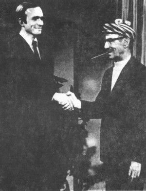 Groucho in an early appearance on Dick Cavett's show.