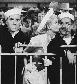 William Bendix, Marie Wilson, and Groucho Marx