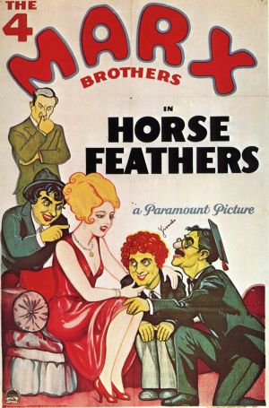 An original poster from the Marxes' fourth Paramount picture, Horse Feathers.