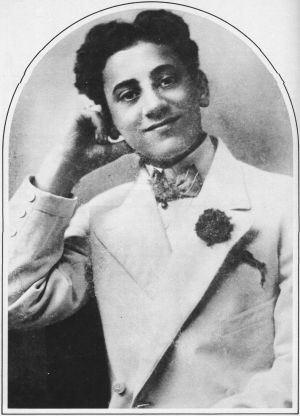 A portrait of young Julius Henry (Groucho) Marx.