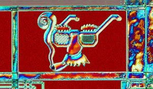 Groucho Glasses rendered on a silicon chip